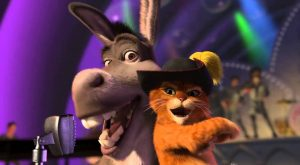 Donkey and Puss in Boots – Livin' La Vida Loca. Great video for a…