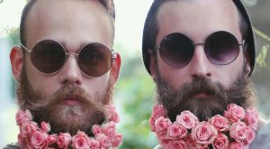 Men Are Decorating Their Beards With Flowers For Spring