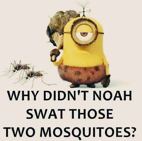 Buuut Mosquitos lay eggs in water, so doubtful they were on the ark, since…
