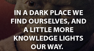 Star Wars quote!