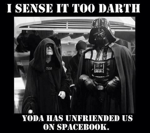 If you just didn't kill all the Jedi Yoda then Yoda wouldn't have unfriended…