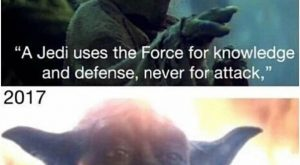 "Attack the knowledge #yoda ""> #yoda #memes ""> #memes #starwars "">…"