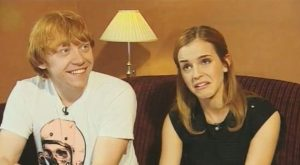 Emma and Rupert, how was it sharing an on screen kiss
