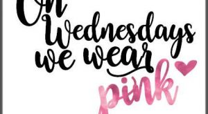 Quote prints – on wednesday we wear pink mean girls quote. Buy quote easy…