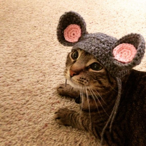 Cat Mouse Ears Costume by PaulinesMenagerie on Etsy
