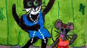 NFAC MAY ACEO Cat's Meow Flappers cats mice cat mouse original whimsical #Mantis explore…