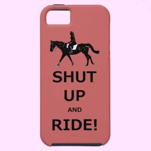 Funny Shut Up and Ride Horse Funny horse design with the caption Shut Up…