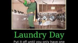funny caption picture guy dressed as superhero at laundrymat