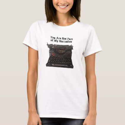 Vintage Typewriter T-shirt with funny caption – vintage gifts retro ideas cyo