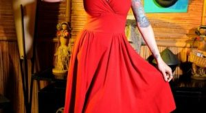 Luscious Dress in Red with Pinup Girl – My Vintage Valentine – Collections |…