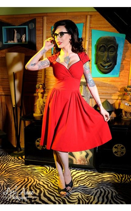 Luscious Dress in Red with Pinup Girl – My Vintage Valentine – Collections  …