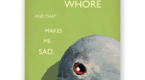 Whore Card Bird Humor Gift Bachelorette by MincingMockingbird