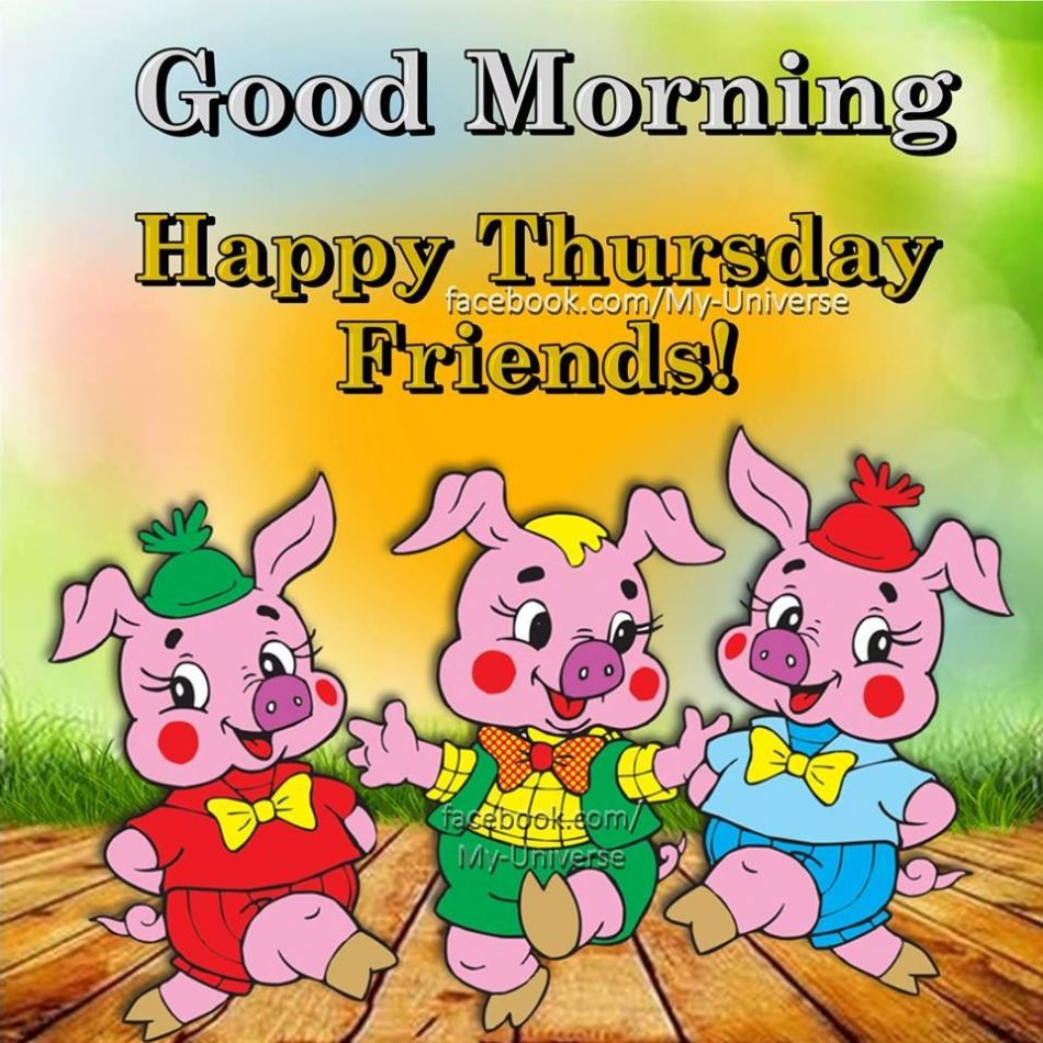 Piggy Good Morning Happy Thursday Friends! good morning thursday thursday quotes good morning…