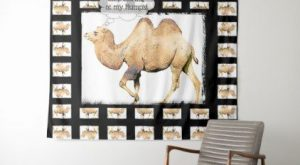 Funny Camel Stop Staring at my Humps Tapestry – animal gift ideas animals and…
