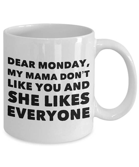 Monday Blues Coffee Mug | I hate Monday | Monday Morning | Funny Gift…