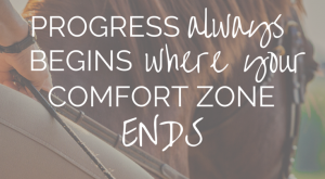 Just stick your toe out, day after day and soon your comfort zone will…