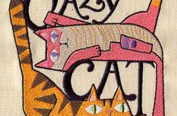 Crazy Cat Lady Embroidered Flour Sack by EmbroideryEverywhere