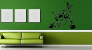Wall Vinyl Decal Donkey Funny Cartoon Nursery Room Decor ig1508