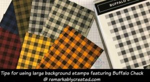 Video tutorials with tips for using big backgrounds stamps featuring Buffalo Check –...