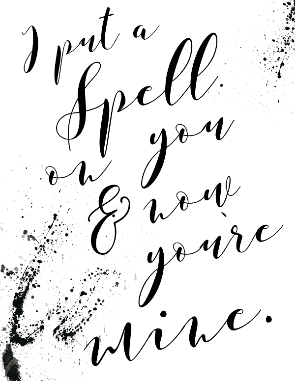 """This is one of 3 """"Hocus Pocus"""" inspired printables that are free on the…"""