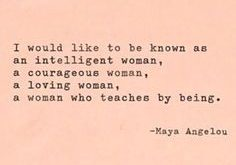 Good quote to love by! We are all strong and independent women! We have…