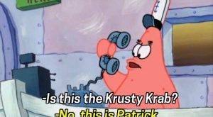 "When Patrick was the world's worst receptionist. | 25 Of The Most Hilarious ""SpongeBob""…"