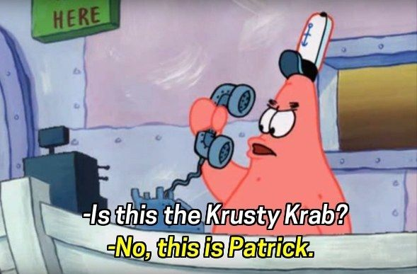"""When Patrick was the world's worst receptionist. 