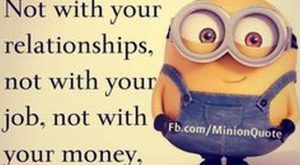 Facetious Minions photos with quotes