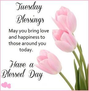 Tuesday Blessings May You Bring Love And Happiness To Those Around You good morning…