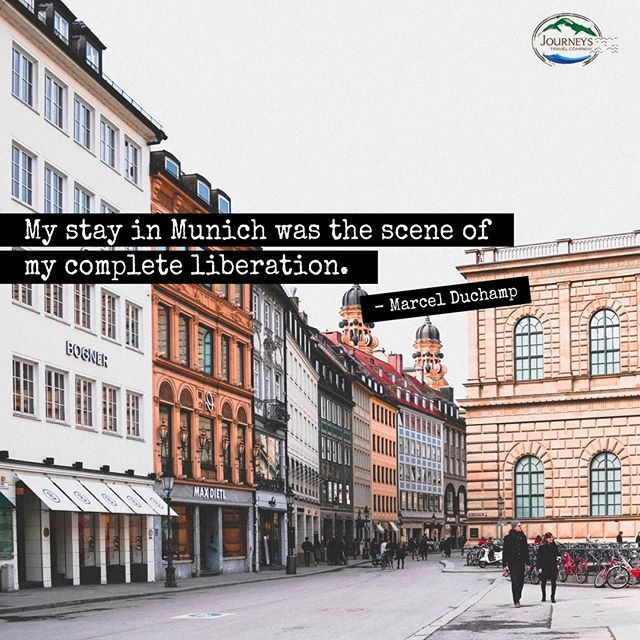 """""""My stay in Munich was the scene of my complete liberation."""" – Marcel Du..."""