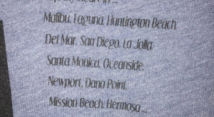 """Blue Hollister Co T-Shirt Blue graphic T-shirt with """"H CO"""" and California quote on…"""