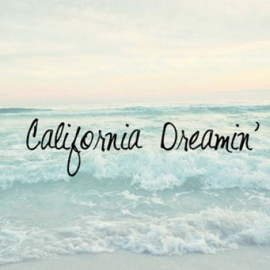 California Dreamin' …..it was once called home for many will always love California