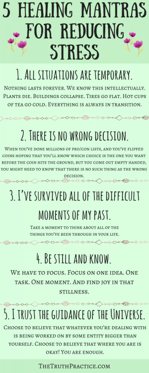 CLICK THE PIN TO READ ALL 10 healing mantras and affirmations for reducing stress…