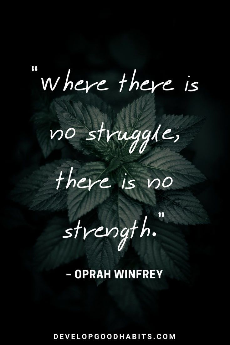 """Short Strength Quotes – """"Where there is no struggle, there ..."""