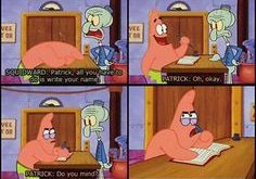 Patrick and Squidwar