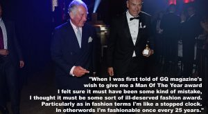 """""""When I was first told of GQ magazine's wish to give me a Man…"""