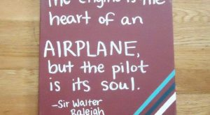 "Flying Airplane Quote Painted on Canvas can by TwoCatsDecorations #aviationquotestheaviator ""> #aviationquotestheaviator"