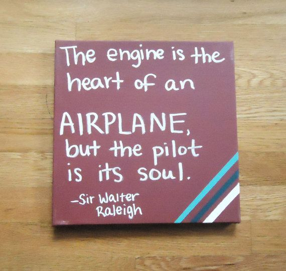 """Flying Airplane Quote Painted on Canvas can by TwoCatsDecorations #aviationquotestheaviator """"> #aviationquotestheaviator"""