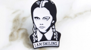 "Adams family Wednesday Pin Adams family Wednesday ""I'm smiling ""pin Accessories"