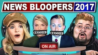 COLLEGE KIDS REACT TO FUNNIEST NEWS BLOOPERS 2017