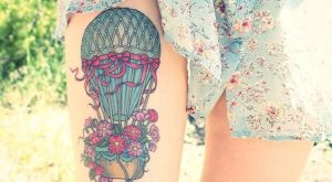 Colorful Hot Air Balloon With Flowers