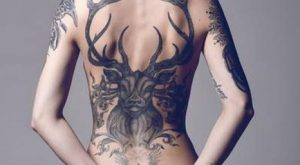 Women back tattoo ideas 008