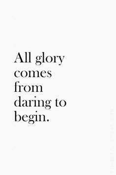 """""""All glory comes fro"""