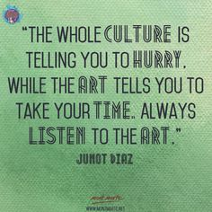 Art Quote by Junot