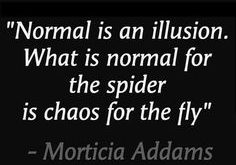 """Normal is an illusi"