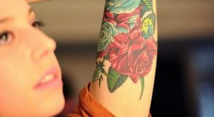 Flower Inner Arm Tattoos for Women