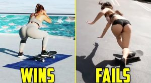 Funny Girls Skateboarding! (Wins vs Fails)