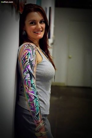 Mind Blowing Animated Full Arm Tattoo For Lovely Women