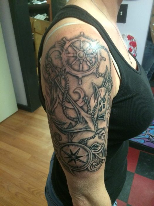 Nautical Half Sleeve Tattoo