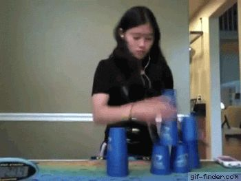 Speed Cup Stacking Fail